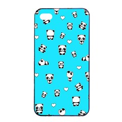 Panda Pattern Apple Iphone 4/4s Seamless Case (black)