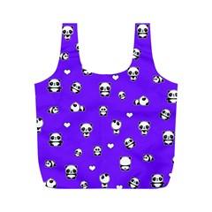 Panda Pattern Full Print Recycle Bags (m)