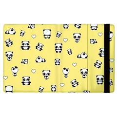 Panda Pattern Apple Ipad 2 Flip Case