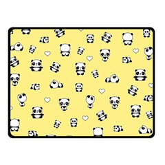Panda Pattern Double Sided Fleece Blanket (small)