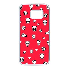 Panda Pattern Samsung Galaxy S7 White Seamless Case