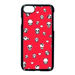 Panda Pattern Apple Iphone 8 Seamless Case (black)