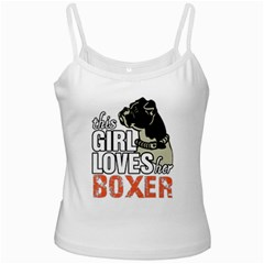 This Girl Loves Her Boxer Ladies Camisoles