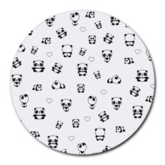 Panda Pattern Round Mousepads