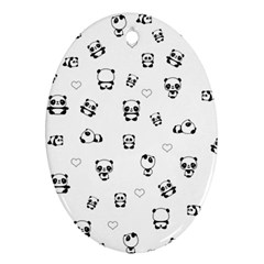 Panda Pattern Ornament (oval)