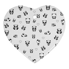 Panda Pattern Ornament (heart)