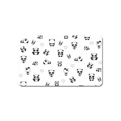 Panda Pattern Magnet (name Card)