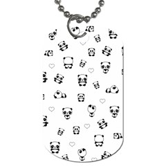 Panda Pattern Dog Tag (one Side)