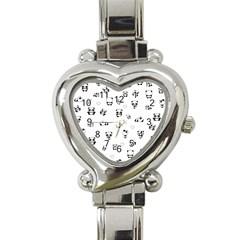 Panda Pattern Heart Italian Charm Watch