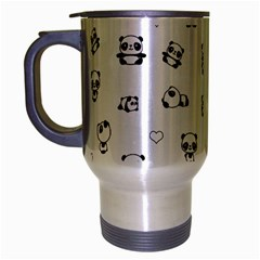 Panda Pattern Travel Mug (silver Gray)