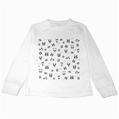 Panda Pattern Kids Long Sleeve T Shirts