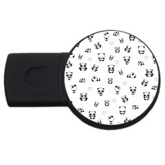 Panda Pattern Usb Flash Drive Round (4 Gb)