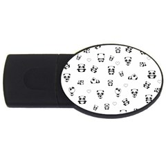 Panda Pattern Usb Flash Drive Oval (4 Gb)