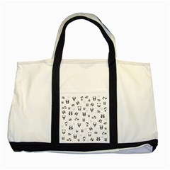 Panda Pattern Two Tone Tote Bag