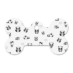 Panda Pattern Dog Tag Bone (one Side)