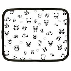 Panda Pattern Netbook Case (large)