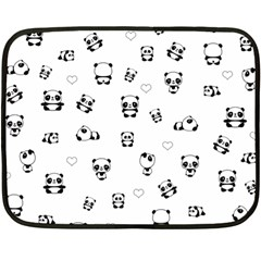 Panda Pattern Fleece Blanket (mini)