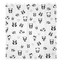 Panda Pattern Shower Curtain 66  X 72  (large)