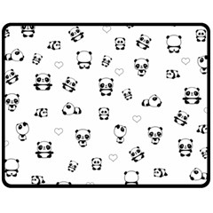 Panda Pattern Fleece Blanket (medium)