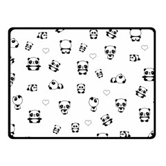 Panda Pattern Fleece Blanket (small)