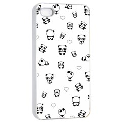 Panda Pattern Apple Iphone 4/4s Seamless Case (white)