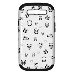 Panda Pattern Samsung Galaxy S Iii Hardshell Case (pc+silicone)