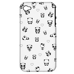 Panda Pattern Apple Iphone 4/4s Hardshell Case (pc+silicone)