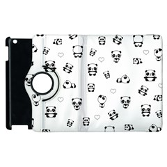 Panda Pattern Apple Ipad 2 Flip 360 Case