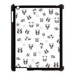 Panda Pattern Apple Ipad 3/4 Case (black)