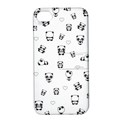 Panda Pattern Apple Iphone 4/4s Hardshell Case With Stand