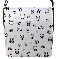 Panda Pattern Flap Messenger Bag (s)
