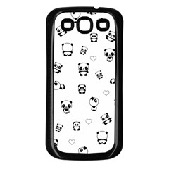 Panda Pattern Samsung Galaxy S3 Back Case (black)