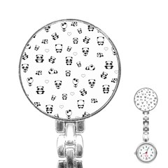 Panda Pattern Stainless Steel Nurses Watch