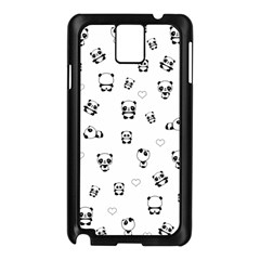 Panda Pattern Samsung Galaxy Note 3 N9005 Case (black)
