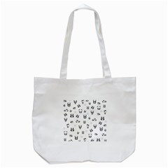 Panda Pattern Tote Bag (white)