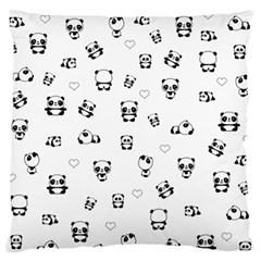 Panda Pattern Large Flano Cushion Case (two Sides)