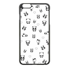 Panda Pattern Apple Iphone 6 Plus/6s Plus Black Enamel Case