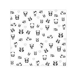 Panda Pattern Small Satin Scarf (square)