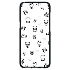 Panda Pattern Samsung Galaxy S8 Black Seamless Case