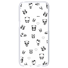 Panda Pattern Samsung Galaxy S8 White Seamless Case