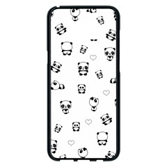 Panda Pattern Samsung Galaxy S8 Plus Black Seamless Case