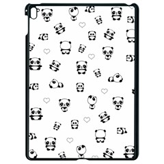 Panda Pattern Apple Ipad Pro 9 7   Black Seamless Case