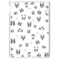 Panda Pattern Apple Ipad Pro 9 7   White Seamless Case
