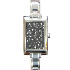 Panda Pattern Rectangle Italian Charm Watch