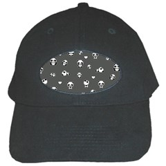 Panda Pattern Black Cap