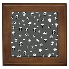 Panda Pattern Framed Tiles