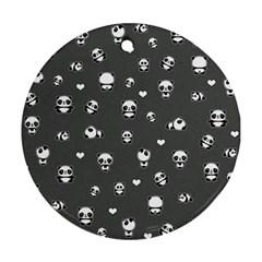 Panda Pattern Ornament (round)