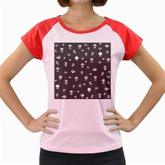 Panda Pattern Women s Cap Sleeve T Shirt