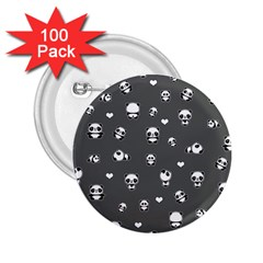 Panda Pattern 2 25  Buttons (100 Pack)