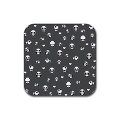Panda Pattern Rubber Square Coaster (4 Pack)